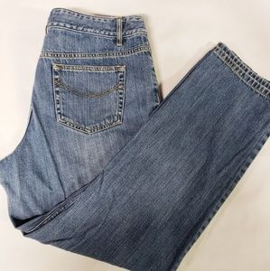 J.Jill High Rise Straight Leg Distressed Jeans
